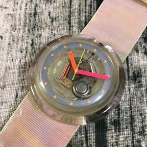 スウォッチ 腕時計 SWATCH pop スケルトン クォーツ スウォッチポップ ポップスウォッチ 1993