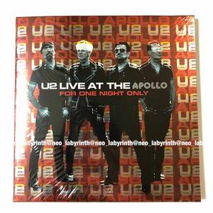 U2 LIVE AT THE APOLLO FOR ONE NIGHT ONLY ポストカードセット付き ファンクラブ限定 CD 新品 未開封