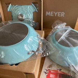 新品 MEYER / マイヤー ライトポット 24cm レシピ付き