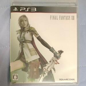 PS3 ファイナルファンタジーXIII 13 限定パッケージ