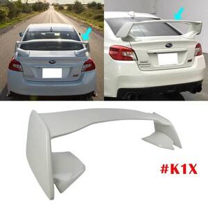 【即納品】#K1X塗装済 スバル WRX VA系 セダン ABS製 STI ウイング リア 大型スポイラー トランクスポイラー クリスタルホワイトパール @