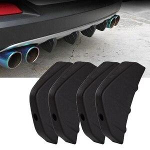 車 汎用 リア バンパー キャスト シャーク スポイラー エクステリア ドレスアップ 外装 パーツ 4個 アウディ