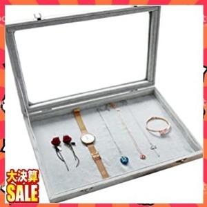 【残1】F ジュエリーケース アクセサリーボックス ピアス イヤリングケース 耳飾り収納/ネックレス収納/指輪収納 ケース ベル