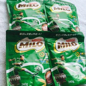 ネスレ ミロ 栄養機能食品 元気をサポート ☆240g ×4 ☆麦芽 ビタミン カルシウム 鉄 栄養 エネルギー 新品 未開封