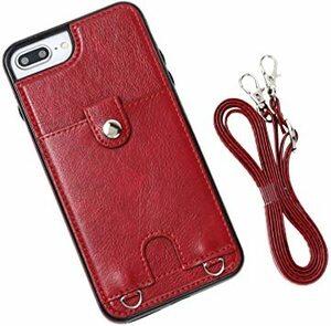 レッド iPhone 7/8 【MocliL】iPhone 7/8 SE2 スマホ ケース 肩掛け 首かけ 斜めがけ ショルダー