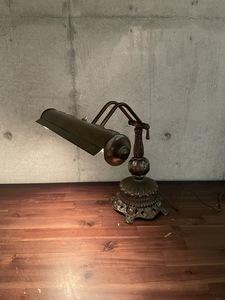 ヴィンテージ メタルベース グースネック デスクランプ テーブルランプ アメリカ雑貨 コレクション 照明 ランプ