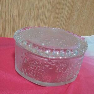 蓋付きガラス容器 厚底どっしり型 ガラス容器