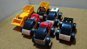 IKEA イケア LILLABO リラブー はたらく車3台 ブロック おもちゃ インテリア 木製玩具 木のおもちゃ 働く車 知育玩具 P