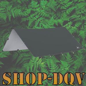 4m×2.9m 軽量 タープ キャンプ 天幕 持ち運び楽々 シェード 遮光 日除け テント ツーリング グレー