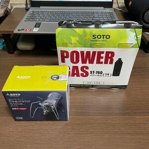 SOTO レギュレーターストーブ ST-310(モノトーン)カセットガス3本付き