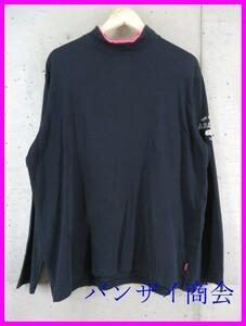 1101a47◆日本製◆adabat アダバット ストレッチ ハイネック 長袖ドライシャツ 50/ゴルフシャツ/メンズ/男性/紳士