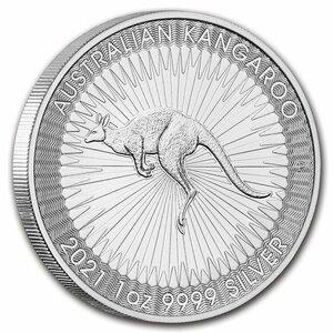 1 йен - серебро быстро растет!* Новые прибыли в Австралию в 2021 году из чистого серебра австралийских кенгуру *