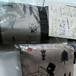 サンリオ キャラクター エコバッグ&レジカゴバッグ お揃い 2点セット 新品未使用 ハローキティ、バツマル、ケロッピ etc.