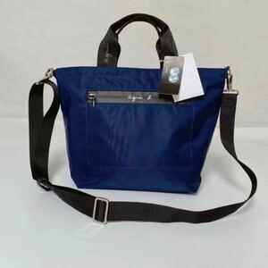 アニエスベートートバッグ2way 紺色