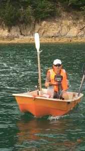 ホンダ2馬力 ボート 漁探 ホンデックス