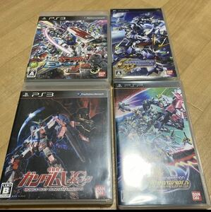 PSP&PS3 ガンダムソフト 4本セット ガンダムアサルトサヴァイブ PS3ソフト PSP