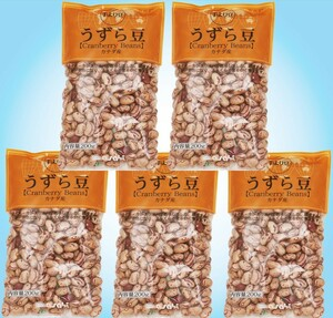 豆力 豆専門店のうずら豆(クランベリー豆) 1kg(200g×5袋)