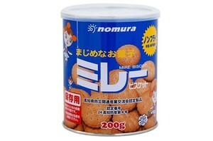 保存用 ミレービスケット缶 (ノンフライ)  200g  【野村煎豆加工店 高知 保存食 非常食】