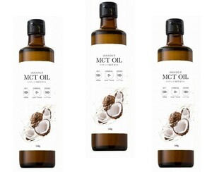 フラット・クラフト MCTオイル 360g×3本  【ココナッツ由来100% 中鎖脂肪酸 中鎖脂肪酸率100% 添加物不使用】