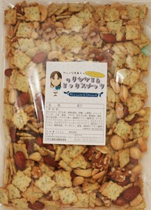 グルメな栄養士の のりセサミ&ミックスナッツ  500g【アーモンド/カシューナッツ/クルミ/マカダミア/セサミクラッカー】 nuts