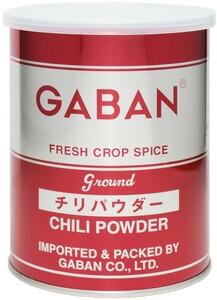 GABAN チリパウダー(缶) 225g×12個   【ミックススパイス ハウス食品 香辛料 パウダー 業務用 唐辛子】