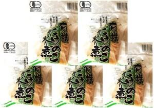 JAS認定 有機たけのこ水煮 1本入×5袋 【有機栽培 認定番号:09B-005 筍 竹の子】