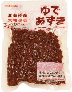 日レト 北海道産 ゆで小豆 150g   【日本レトルトフーズ 保存料・着色料未使用 味付けなし ゆであずき】