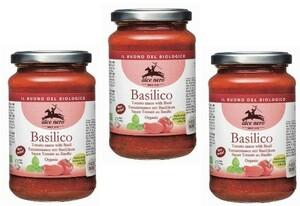 アルチェネロ 有機パスタソース・トマト&バジル   350g×3個   【ALCE NERO 有機JAS EU有機認定 オーガニック トマトソース】