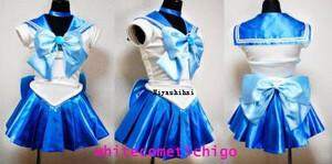 高品質生地 美少女戦士セーラームーン セーラーマーキュリー コスプレ衣装「靴&ウィッグ 別売り」の商品画像