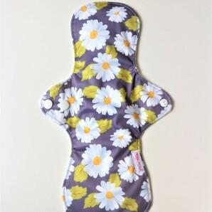 ●布ナプキン 30cm 1枚●防水 多い日(昼用) 普通の日(夜用) グレー花