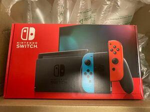 未使用 任天堂 Nintendo Switch 本体 ニンテンドースイッチ ネオンブルー ネオンレッド HAD-S-KABAA