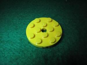 ☆レゴ-LEGO★60474★プレート[黄]4x4(円、ペグ穴)★新品★色々使える★丸