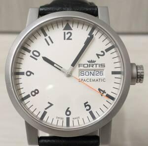 稼働品 FORTIS SPACEMATIC スペースマチック 623.22.158 自動巻 メンズ 腕時計 フォルティス