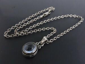 серебряный 925 цветной камень колье подвеска 10 знак . Cross маленький бобы цепь примерно 40.