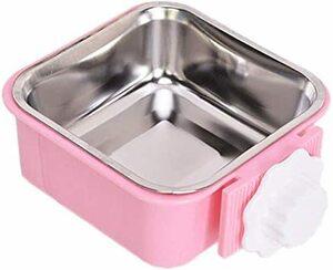 ピンク ペット食器 猫 餌入れ サイズS ペットボウル 犬 ハンガー POPETPOP ゲージ用 ヘルスウォーターボウル うさぎ