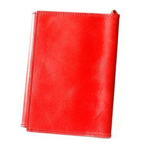 新品 ブックカバー 文庫本 A6サイズ イタリアンレザー 本革 レッド