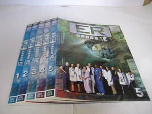 Y9 02754 - 【訳あり】ER 緊急救命室 シーズン7 計5枚(全6巻中、6巻のみ欠け) DVD 送料無料 レンタル専用 吹替有 ジャケット裏日焼け有