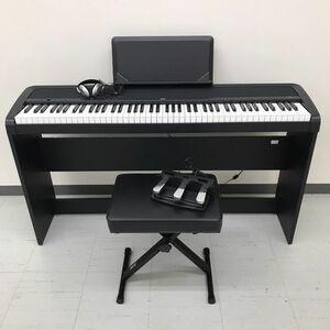 iwb096 【中古】  ※引取限定 KORG コルグ 電子ピアノ B1 2018年製 ブラック 椅子等付属