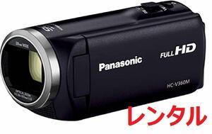 Panasonic パナソニック フルHD ビデオカメラ V360M 16GB 90倍ズーム ブラック 6泊7日 送料安