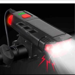 LED自転車ソーラーライト 自転車ベル付き高輝度 800ルーメン ソーラー充電自転車ヘッドライト