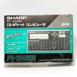 77047840[ редкий товар ] SHARP PC-1246DB карманный компьютер есть инструкция по эксплуатации карманный компьютер .... бесплатная доставка кнопка все работа