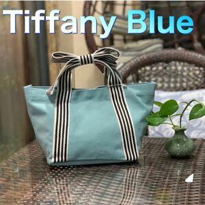 トートバッグ ミニバッグ ランチバッグ キャンバス ミニトート お出かけ サブバッグ ミニバッグ Tiffany Blue