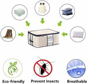 布団収納袋 ケース 衣類収納ボックス 防水防塵 湿気防止 防虫 持ち手付x