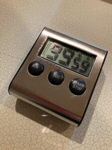 デジタルキッチンタイマー キッチン シルバー ステンレス 料理 カウントダウン 冷蔵庫 磁石