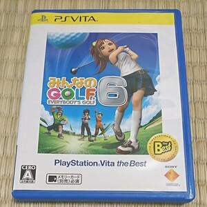 PS Vita みんなのゴルフ6 PlayStation Vita the Best