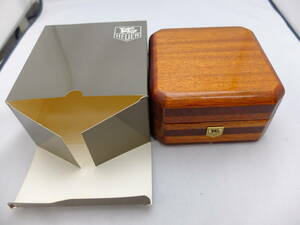 TAG Heuer wooden BOX Gold color Logo unused