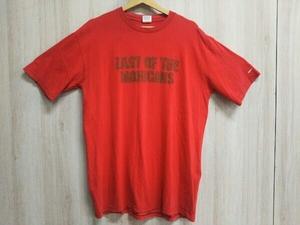 Supreme/シュプリーム/Last Of The MOHICANS Tee/半袖Tシャツ/01AW/Lサイズ/ストリート/スケボー/カジュアル/ロゴ/メンズ/コットン/レッド