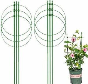 L(60CM) DEMET 園芸用品支柱 盆栽用 植物支柱 観葉支柱 植木鉢サポートセット リングガーデントレリスフラワーステン
