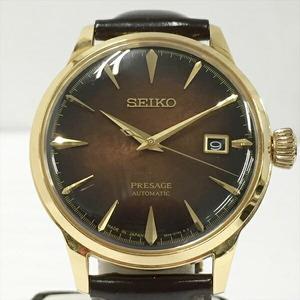☆☆【257】【中古】セイコー SEIKO プレザージュ SARY134 8000本限定 自動巻き 腕時計 ブラウン 裏スケ 箱・替えベルト付き