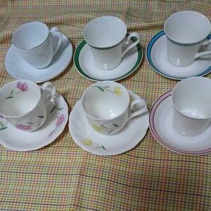 カップ&ソーサー6客セット+おまけ花柄マグカップ